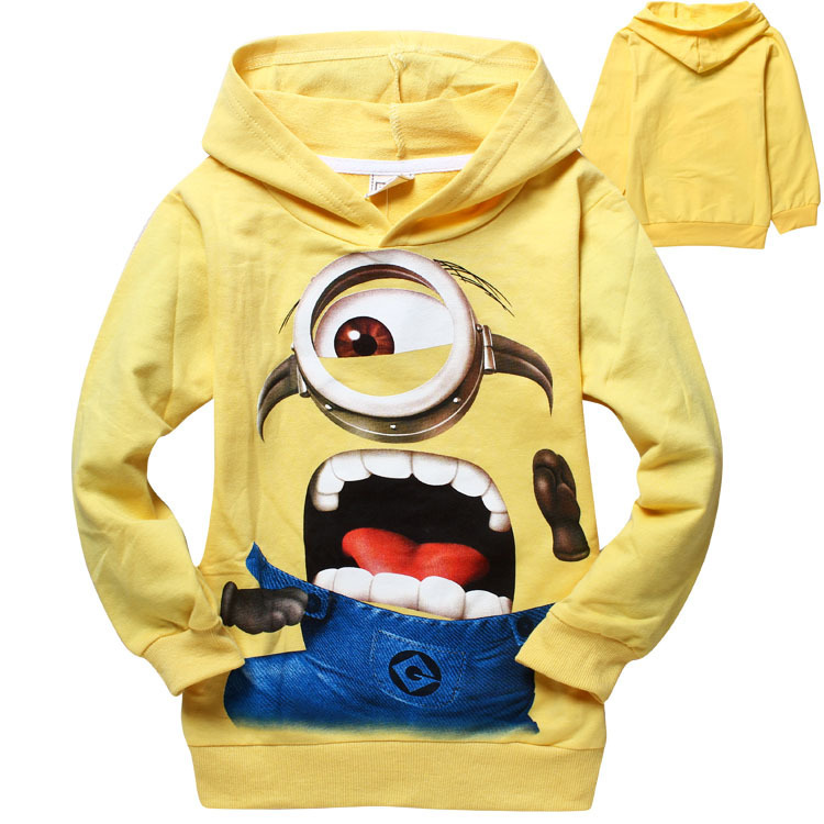 Free shipping new despicable me minions boys girls sweater clothes children t shirts spring autumn hoodies sweatshirts tops tees<br><br>Aliexpress