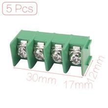5 Pcs/lot 4 Pins 7.62mm Pitch PCB Mount Screw Terminal Block Discount 70(China (Mainland))