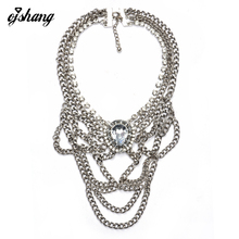 Buy Collares ZA Women 2016 Necklaces Pendants Boho Crystal Resin Silver Gold Necklace Chain Necklace Gold Choker Statement Kolye for $6.53 in AliExpress store