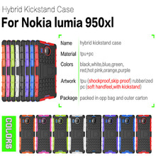 Shimizu case Unique Hybrid Cool Back Cases For Nokia Microsoft Lumia 950 XL phone cases Car Tyre Skin Stand Holder Frame