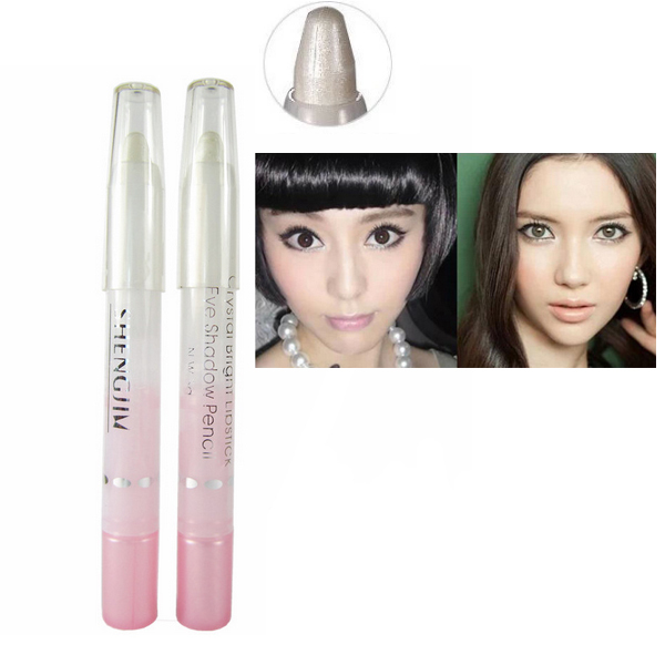 2pcs/lot Pearl white eyeliner pencil white pen brighten makeup eyes high quanlity Highligher Cosmetic(China (Mainland))