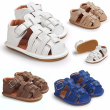 2017 New fashion designs Summer Baby Boys sandals Hot sale Pu leather Baby moccasins child sandals Hard sole Infant shoes(China (Mainland))