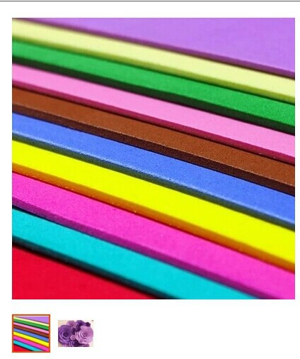 4PCS/LOT 3mm Eva foam sheets,Craft sheets, School projects, Easy to cut,Punch sheet,Handmade material.size 50*50cm(China (Mainland))