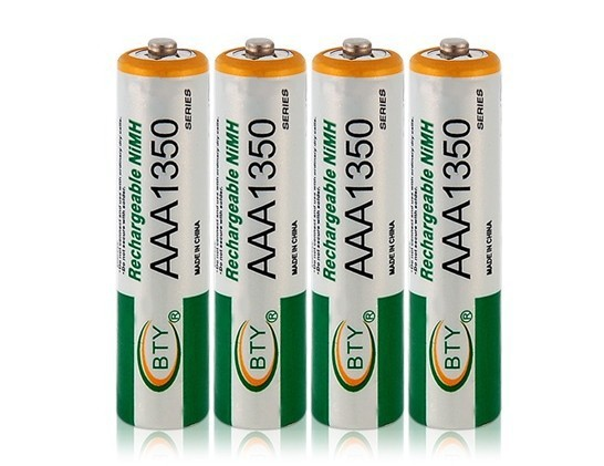 4 Pieces 1.2V AAA Rechargeable Battery NI-MH Battery, For Children's Toy Remote Control And More 1350(China (Mainland))