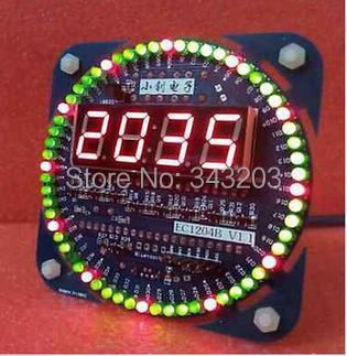 DIY DS1302 Rotation LED Electronic Digital Clock Kit 51 SCM Learning Board(China (Mainland))