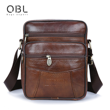 Cow Genuine Leather Messenger Bags Men Casual Travel Business Crossbody Shoulder Bag for Man Sacoche Homme Bolsa Masculina MBA19(China (Mainland))