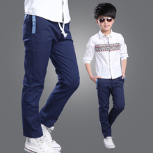 Pants For Boys Spring Children Clothing Cotton Casual Kids Clothes For Boys Solid Pockets Sports Pants Teenage Boys Pants 6-14Y(China (Mainland))