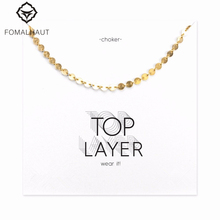 Buy Hot Sale disc chain choker necklace Pendant necklace Clavicle Chain Statement Necklace Women FOMALHAUT Jewelry for $1.58 in AliExpress store