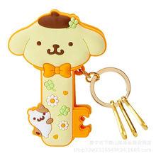 My Melody Olá Kitty Cinnamoroll Pompompurin Pequenas Estrelas Gêmeas clipe bonito dos desenhos animados do anel chave chaveiro clipe comida(China)