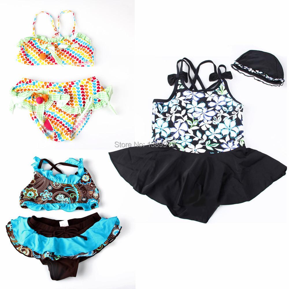 AliExpress.com Product - A++ Child Kids Swimming Suit Costume Swimwear Frozen Swimsuit Maios E Biquini Bikini Meias Infantil Two Pieces Color For Girls
