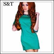 2015-new-summer-bodycon-women-short-dress-fashion-ladies-elegant-patchwork-party-casual-women-mini-dress