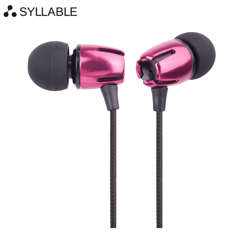 SYLLABLE E72 Handsfree 3.5mm Earphones For Samsung iPhone Xiaomi For Sports wired earbuds with microphone girl headsets(China (Mainland))