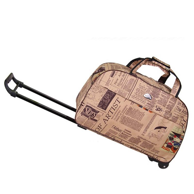 Hot Fashion Waterproof Tourism Trolley Bags Men Women Luggage Travel Wheels Boarding Rolling - Sunshine Girl Store! store