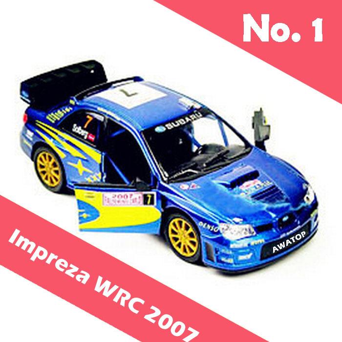 Brand New kinsmart Subaru Impreza WRC 2007 alloy diecast toy model cars 1:36(China (Mainland))