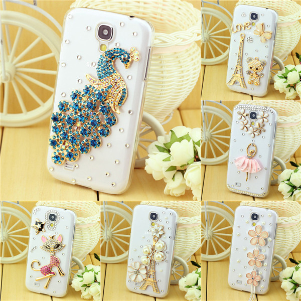 Handmade crystal case cover for samsung galaxy s4 mini i9190 case protective sleeve shell mobile phone case cover(China (Mainland))