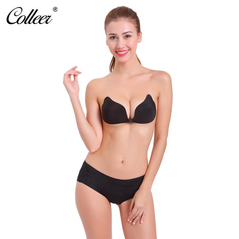 COLLEER Sexy Push Up Bras Bralette Underwear Women Silicone Strapless Bra Invisible Wedding Sujetador Bra Top soutien gorge BH