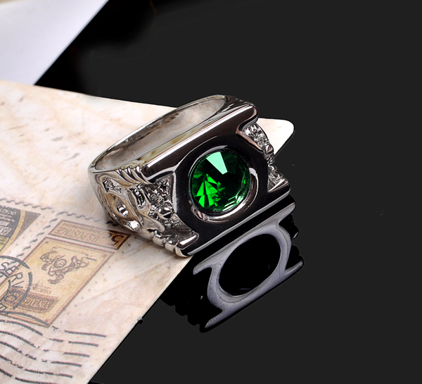 aneis emerald anillos ring jewelry justice league green