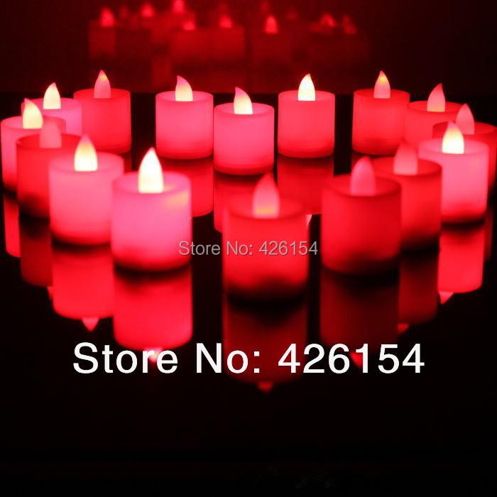 24pcs/lot LED smokeless/flameless Flickering Battery Candles Tea Light for Wedding Birthday Party home decor led candle 7colors(China (Mainland))