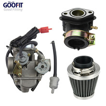GOOFIT 24mm And 42mm PD24J Motorcycle Carburetor Air Filter Intake Manifold GY6 125 CC 150CC Go Kart Moped And Scooter Group-y6