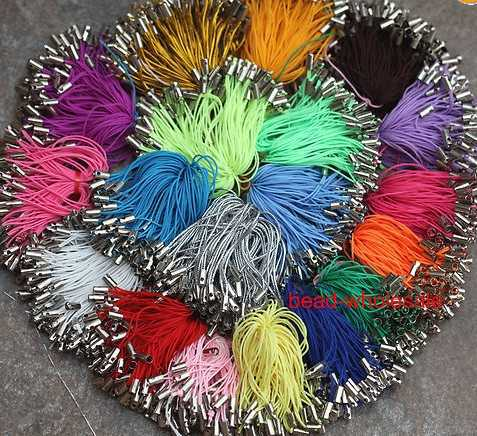OMH wholesale free ship 500pcs Mixed Color Charm Mobile Phone Dangle Strap String Thread Cord 21 Colors To Choose
