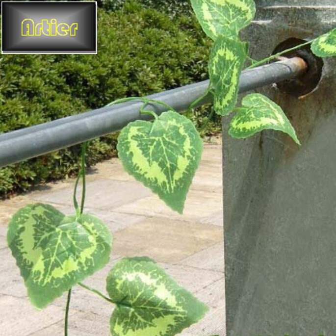 Wholesale Loving Vines 2.5 M Long Vine Leaves Grass Flower Vine Simulation AD1423(China (Mainland))
