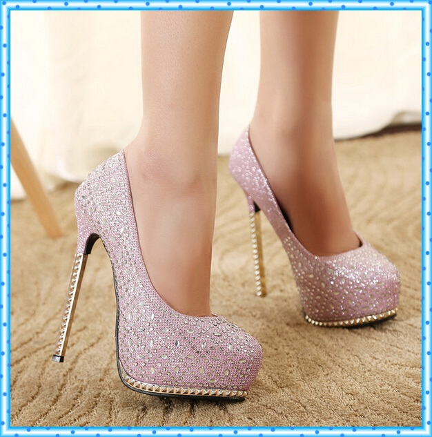Unique 2015 High Thin Heels Cheap Black Pump Pointed Toe Summer Style Women