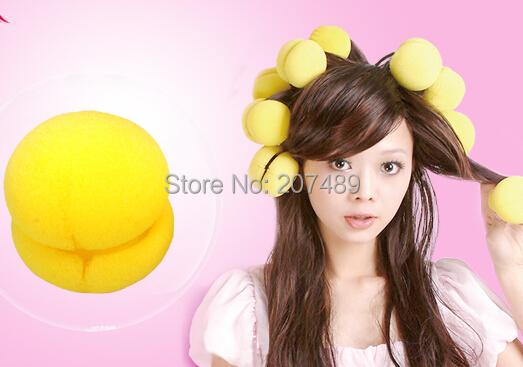 Popular Magical Cake Balls Soft Sponge Hair Curler Hair Care Styling Roll Ball Roller Curler Tool whcn