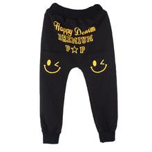 Hot Wholesale New Children Kids Autumn Winter Pants Casual Pocket Boys Girls Smiling Faces Harem Pants