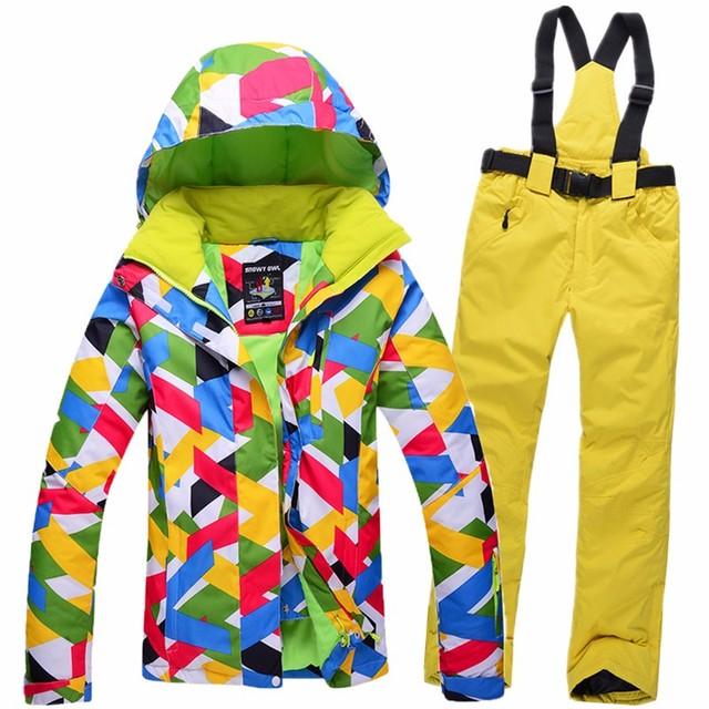 8 цвета 5 размеры женщины водонепроницаемый ветрозащитный дышащий капюшоном лыжах куртка + брюки зима тепловой кемпинг сноуборд костюм наборы