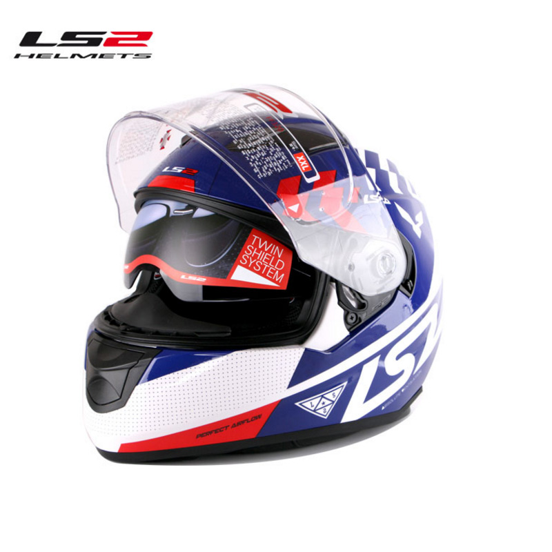 2016 New ls2 100% Genuine helmet limited edition motorcycle helmet LS2 double visor With air bag free shipping FF320(China (Mainland))