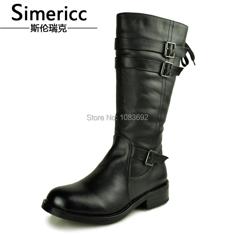 New 2014 Flats man Genuine Leather Shoes High Wool Warm Winter Boots Snow Boots Sapatos SIZE 37-44<br><br>Aliexpress