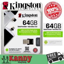 Kingston OTG usb flash drive pendrive pen drive 3 0 16gb 32gb 64gb Smartphone Micro Memory