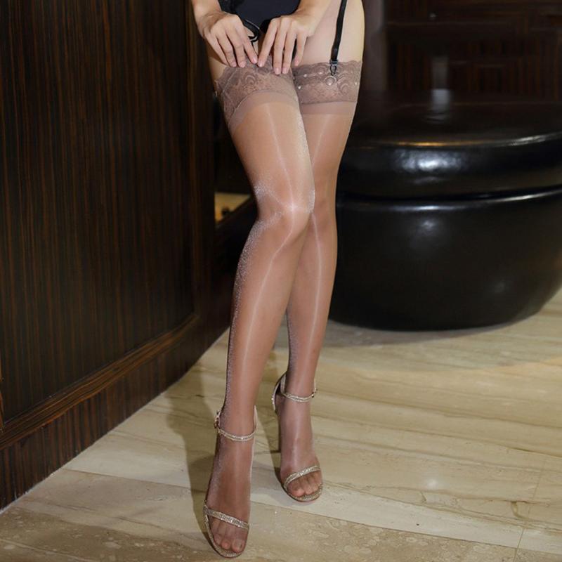 1Pair 70D Oil Shiny Glossy Stockings Pantyhose Shiny Satin Shape Stockings So si