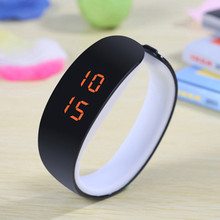 2015 LED Candy Color Silicone  Women Watches Rubber Touch Screen Digital Watches Bracelet I Casual Silicone WristWatches Gift
