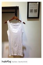 Free shipping New 2014 fashion bottom sleeveless shirt Sexy Women skinny Spaghetti Bodycon Bottoming Dress Vestidos tank top(China (Mainland))