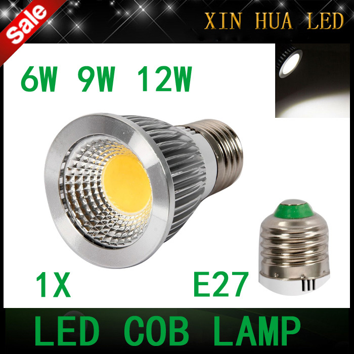 E27 6w 9w 12w 85-265v COB dimmable Spotlight gu10 mr16 cob lamp bulbs warm/cool white - Xin Hua Electrical LED Store store