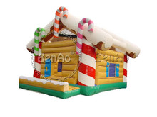 X018   High quality advertising inflatable christmas bouncer  Commercial Inflatable Santa Claus  and Snowman Christmas House (China (Mainland))