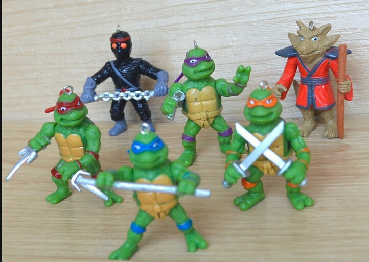 2015 New NECA Toy 6 pieces/lot Teenage Mutant Ninja Turtles hasbroeINGlys Action Figure tmnt Model Toys for boys juguetes Gift(China (Mainland))