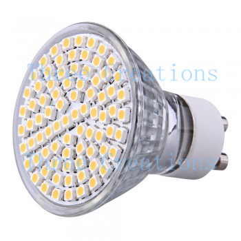 10pcs GU10 Warm White 80 SMD LED Spot Lamp Bulb 230V 4W LED0053(China (Mainland))