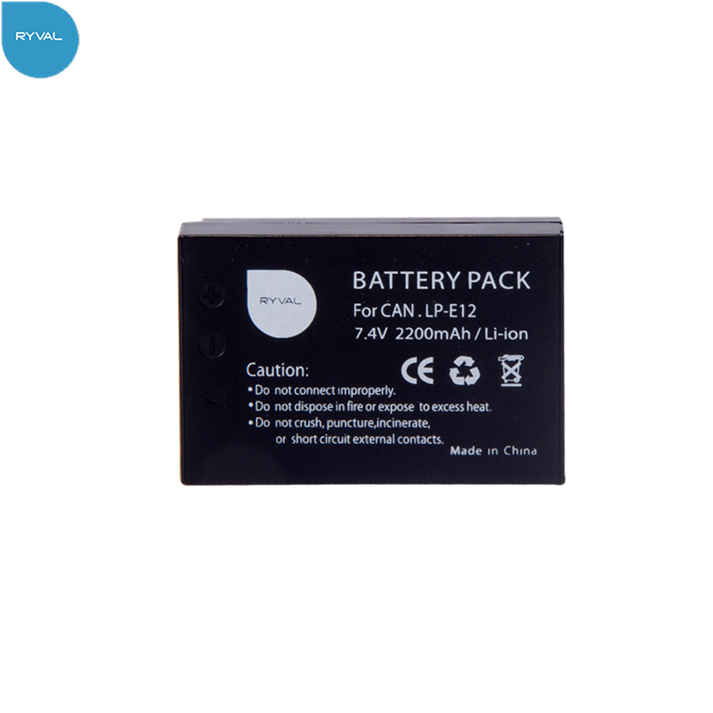 RYVAL high quality LP E12 Digital Camera battery for Canon EOS M M2 Rebel SL1 100D