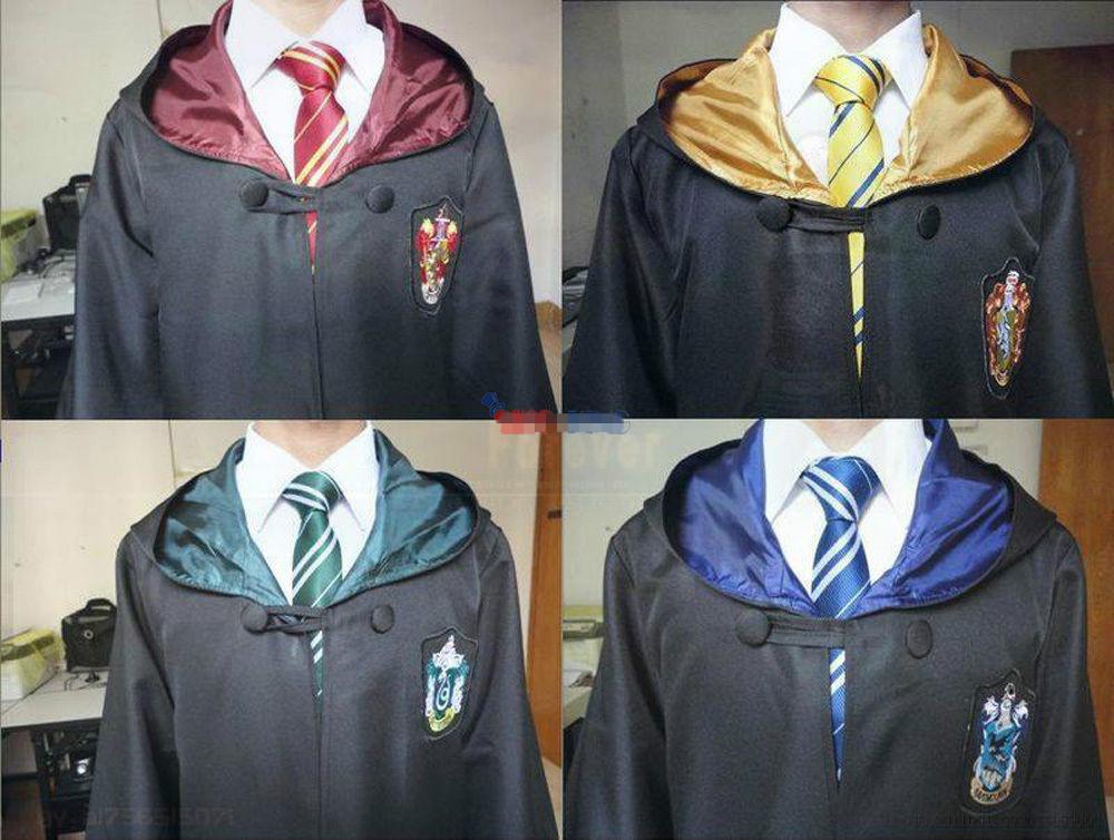 Harry Potter Cape gryffondor poufsouffle serdaigle serpentard école Cosplay Costume enfants adultes Cape Robe cadeau Cape Halloween(China (Mainland))