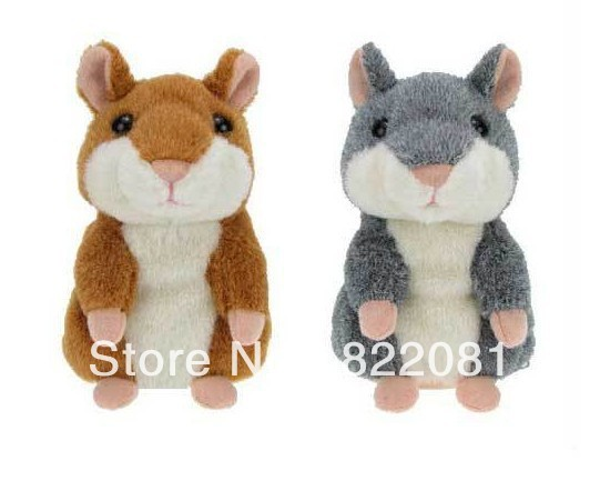 Free Shipping Hot and Smart Recording Hamster toys Plush Hamster Talking Russian Original Edition