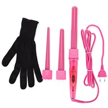 Professional Hair Care Curling Wand Interchangeable 3 Parts Clip Iron Hair Curler Set Hair Styling Tools Kits(China (Mainland))