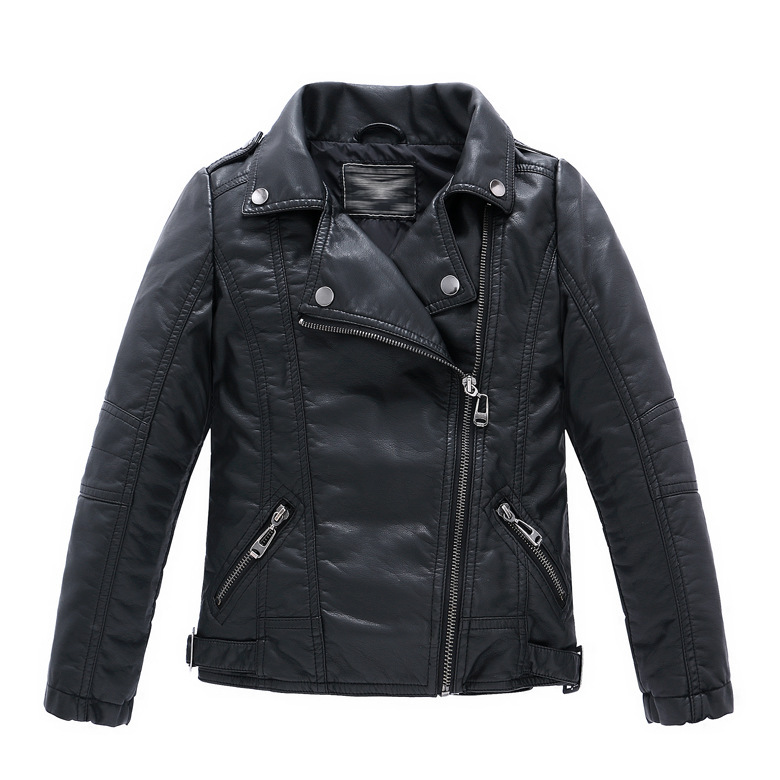 Boys Girls PU Leather Autumn Winter Jackets 2015 New Fashion Children 4-16Y Clothing Kids Warm Coat Outerwear