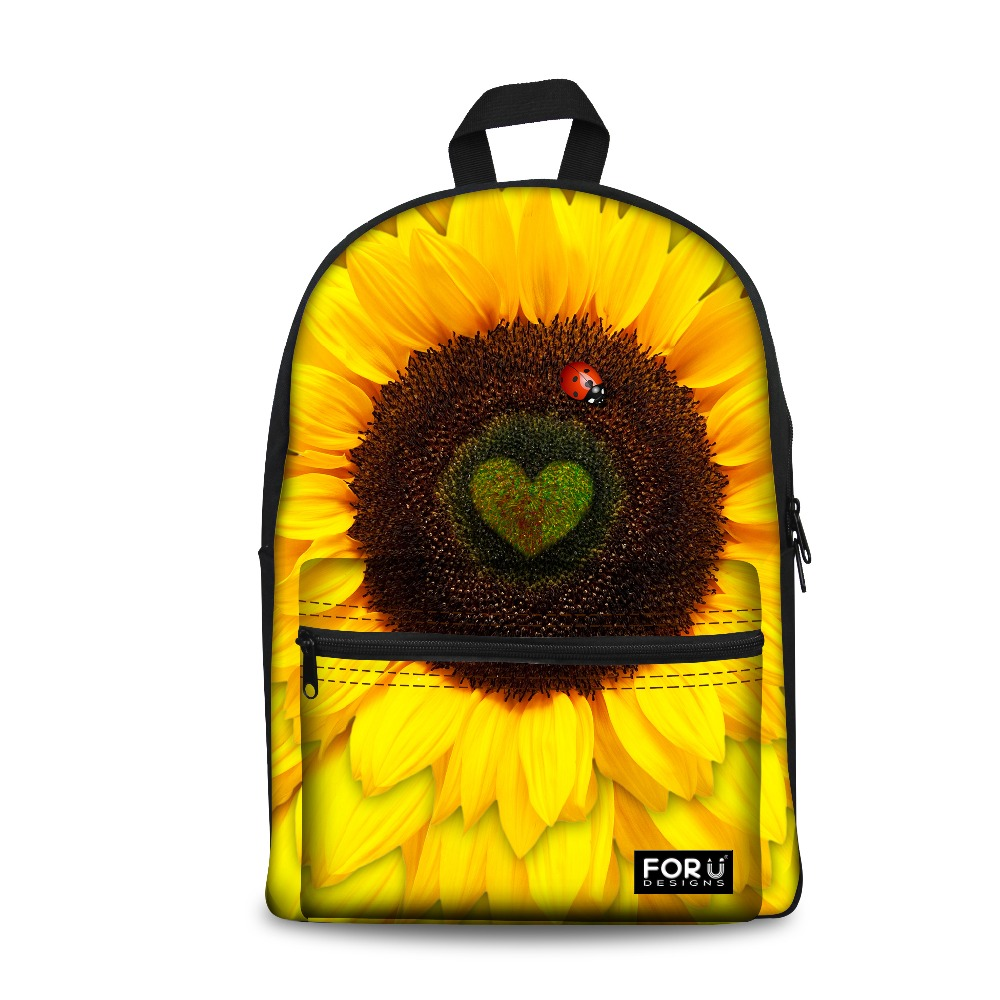 Beauty Sunflower Womens Backpack Travel Shoulder Bag Children School Bags for Teenage Girls Casual Birds Print Sac a Dos Mochila<br><br>Aliexpress