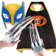 New X-men Wolverine Garra Manto Máscara Brinquedo Adereços Cosplay Wolverine Logan Máscara de Super-heróis do DIODO EMISSOR de Luz Kit de Ação PVC figura Caçoa o Presente(China)