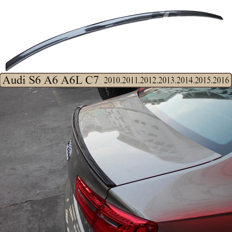 High Quality Carbon Fiber Spoiler For Audi A6 A6L S6 C7 2013.2014.2015.2016.2017 Brand New Carbon Fiber Rear Spoilers(China (Mainland))