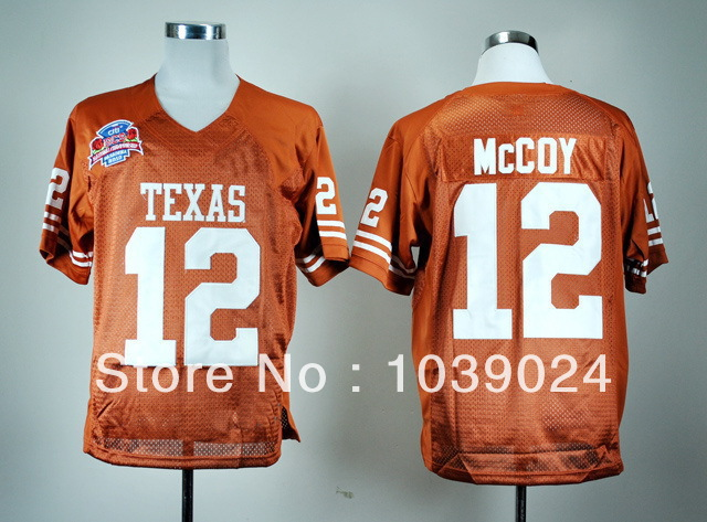2014 New Style Texas Longhorns Low Price#12 Colt McCoy Jersey Great Quality Burnt Orange 2010 BCS Patch Stitched Low Price Coll(China (Mainland))