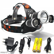 T6 Xm-L Led Headlight 8000Lm Headlamp Flashlight Head Torch Linterna Cree Xml 18650 Battery/Ac Car Charger Fishing Light - The Expendables Shop store