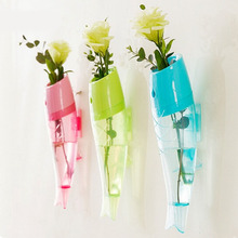 Best Price Decor Fish Wall Hanging Vase Wall Mounted Fish Shaped Flower Vase Free Shipping(China (Mainland))